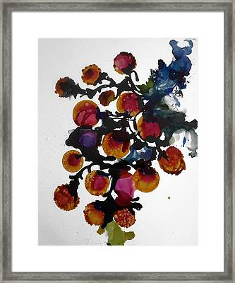 Midnight Magiic Bloom-1 Framed Print by Alika Kumar