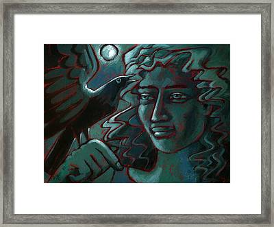 Midnight Message Framed Print by Angela Treat Lyon