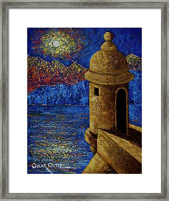 Midnight Mirage In San Juan Framed Print