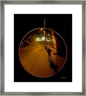 Midnight Mirror Framed Print by Jim Coe