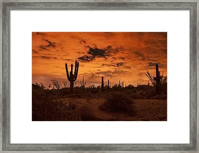 Midnight Monsoon  Framed Print