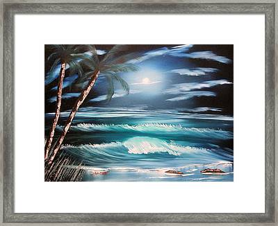 Midnight Ocean Framed Print by Sheldon Morgan