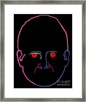 Framed Print featuring the painting Midnight Rage by Marian Cates