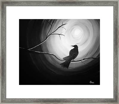 Midnight Raven Noir Framed Print