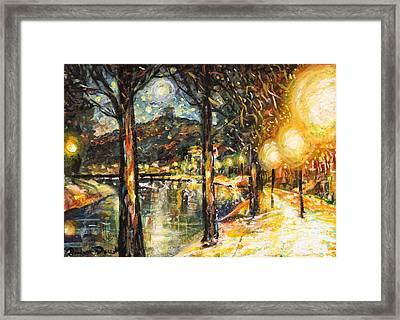 Midnight Reflections Framed Print