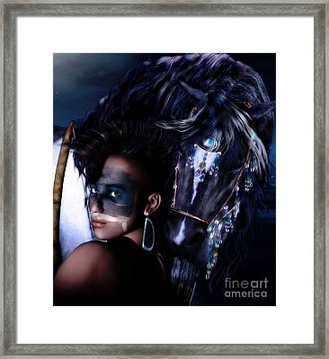 Midnight Ride Framed Print by Shanina Conway