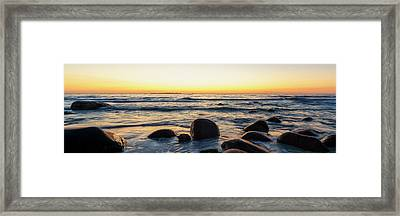 Midnight Rocks Framed Print by Tor-Ivar Naess