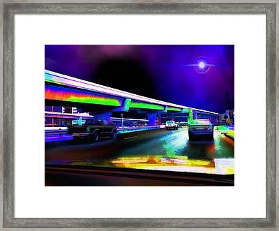 Midnight Run - Austin To San Antonio Framed Print by Wendy J St Christopher