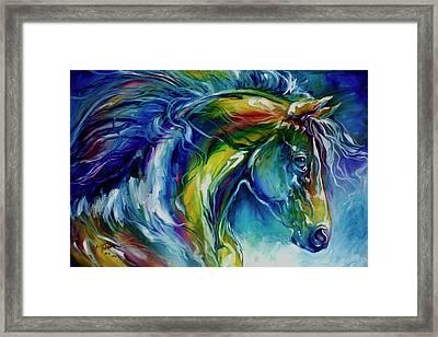 Midnight Run Equine Framed Print by Marcia Baldwin