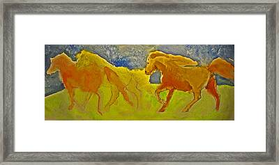 Midnight Run Framed Print by Linda Kay Thomas
