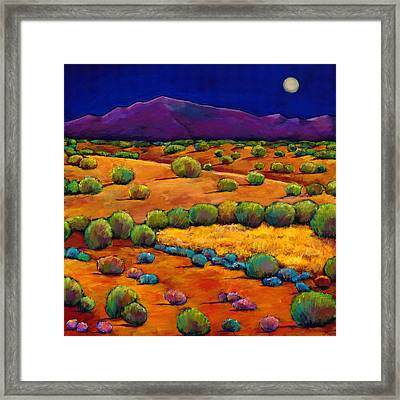 Midnight Sagebrush Framed Print by Johnathan Harris