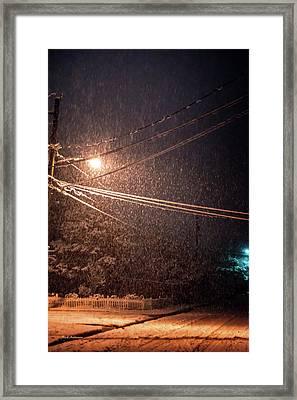 Midnight Snow Framed Print