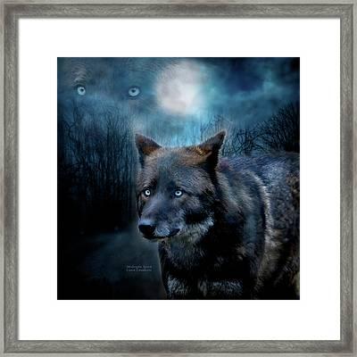 Midnight Spirit Framed Print by Carol Cavalaris