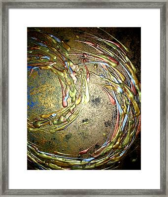 Midnight Storm 1 Of 3 Framed Print by Daniel Lafferty