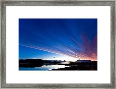 Midnight Stripes Framed Print