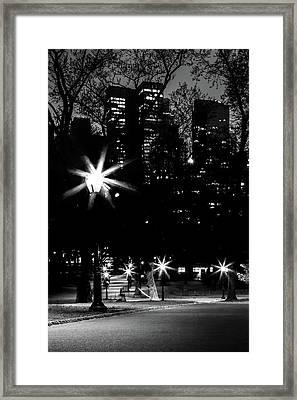 Midnight Strolls Framed Print