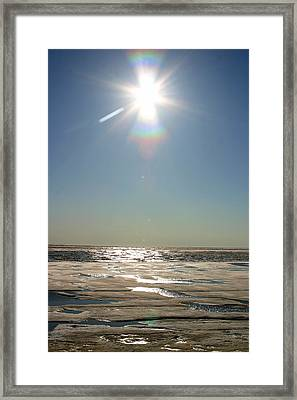 Midnight Sun Over The Arctic Framed Print