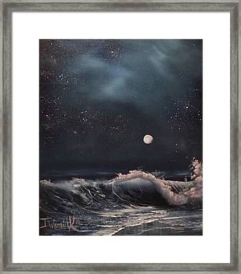 Midnight Surf  Framed Print