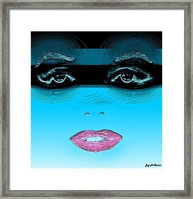 Midnight Swim Framed Print by Joy McKenzie