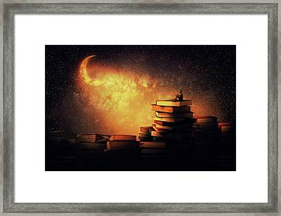 Midnight Tale Framed Print by Psycho Shadow