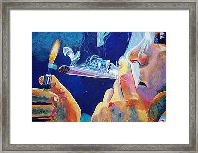 Midnight Toker Framed Print by Anita Toke
