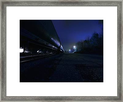 Midnight Train 1 Framed Print by Scott Hovind