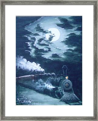 Midnight Train Framed Print by KC Knight