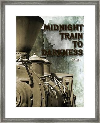 Midnight Train To Darkness Framed Print