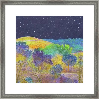 Midnight Trees Dream Framed Print