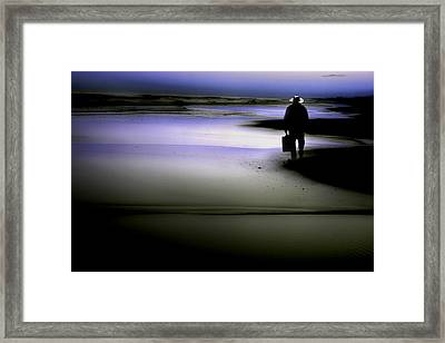 Framed Print featuring the photograph Midnight Wanderer by Gray  Artus