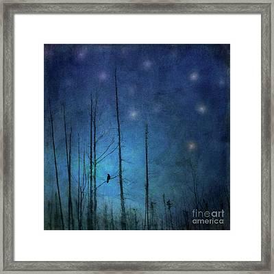 Midnight Words Framed Print