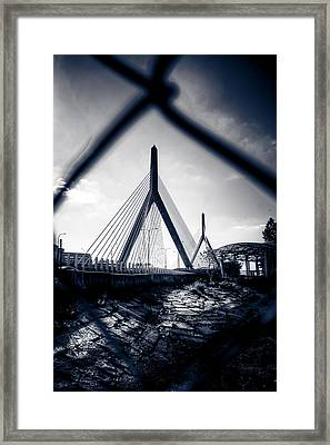 Midnight Zakim Framed Print by Andrew Kubica