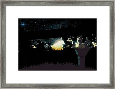 Midnight Zombie In The Garden Of Grapes  Framed Print by ARTography by Pamela Smale Williams