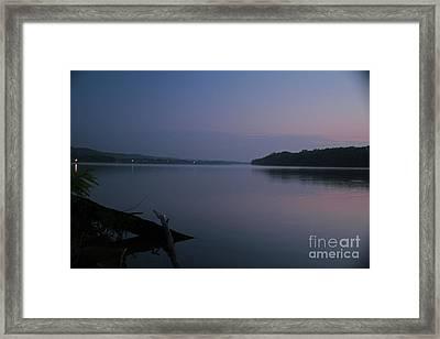 Midnite Blue Framed Print