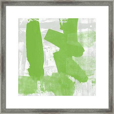 Midori- Abstract Art By Linda Woods Framed Print by Linda Woods