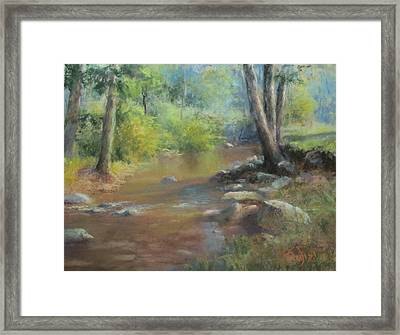 Midsummer Day's Stream Framed Print