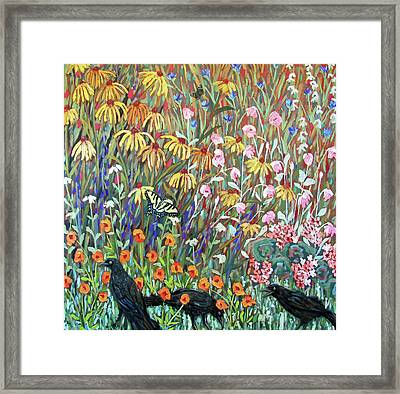 Framed Print featuring the painting Midsummer Enchantment- Diptych Side B by Susan  Spohn
