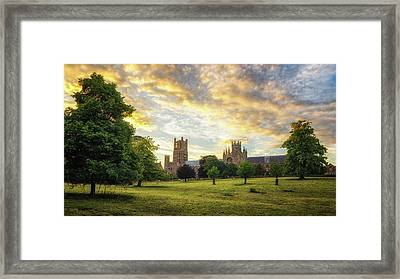 Midsummer Evening In Ely Framed Print