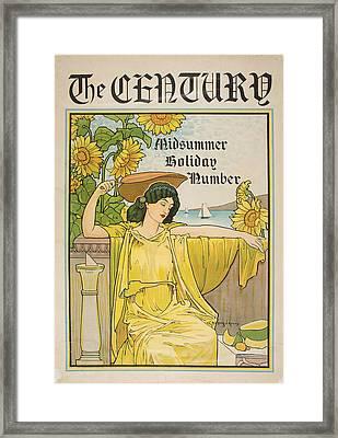 Midsummer Holiday Number Framed Print by Celestial Images