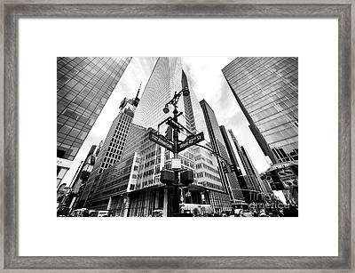 Framed Print featuring the photograph Midtown by John Rizzuto