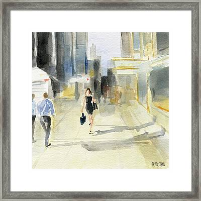 Midtown Light And Shadows Framed Print