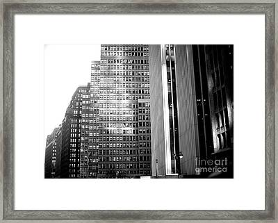 Framed Print featuring the photograph Midtown Light by John Rizzuto