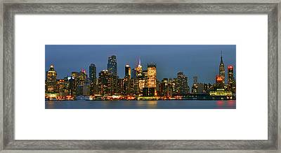 Midtown Manhattan Framed Print by Zawhaus Photography