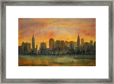 Midtown Morning Framed Print