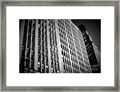 Framed Print featuring the photograph Midtown Noir by John Rizzuto