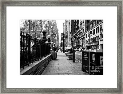 Midtown Sidewalk Framed Print by John Rizzuto