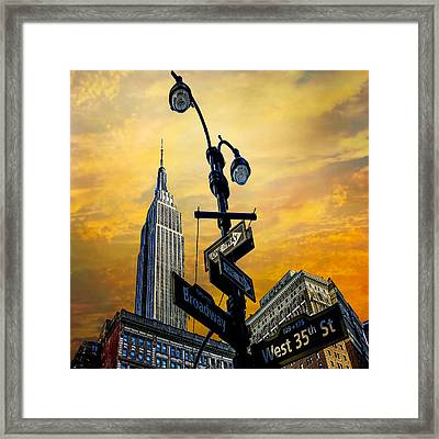 Framed Print featuring the photograph Midtown Sunset by Chris Lord
