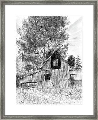 Midway Barn Framed Print by David King