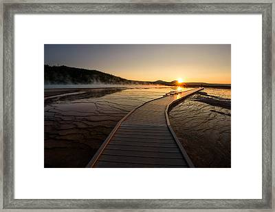 Framed Print featuring the photograph Midway Basin Sunset by Dan Mihai