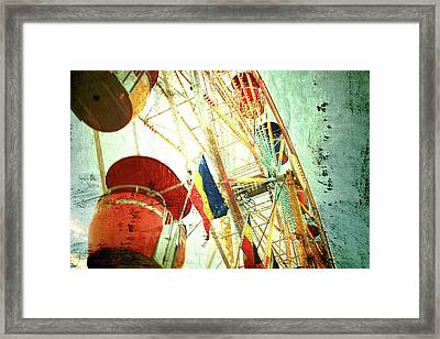 Midway Spin Framed Print by Toni Hopper